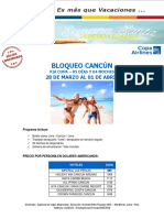BLOQUEO SEMANA SANTA CANCÚN - 28 DE MARZO AL 01 DE ABRIL