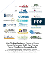 News Release - 21 Virginia Chambers of Commerce Support Increased Health Care Access for the Uninusred