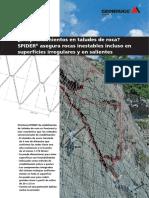 Desprendimiento de Rocas en Superficie Irregulares y Sobresalientes - Geobrugg-AG_SPIDER_es