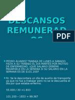 DESCANSOS REMUNERADOS