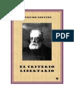 Lorenzo, Anselmo - El criterio libertario