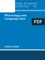 (Cambridge Studies in Linguistics) Joan Bybee-Phonology and Language Use-Cambridge University Press (2001)