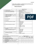 Códigos de Respuesta Cuestionario Confidencial Sobre Vida Académica y Actitudes Hacia Las Relaciones de Pareja 1