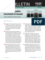 Cost of Pipeline Constraints in Canada