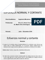 Esfuerzos Normal y Cortante