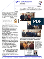 Knights of Columbus - May 2018 Newsletter