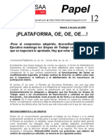 Papel 12  Ya tenemos Plataforma