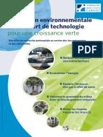 Plaquette Alliance Carnot Environnement