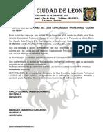 Acta Para La Reforma Del Club Especializado Profecuional