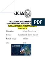 FUNDAMENTOS DE PROGRAMACIÓN Y SIMULACIÓN