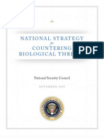 National Strategy for Countering Bio Threats
