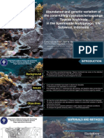 Abundance and Genetic Variation of the Coral-killing Cyanobacteriosponge12