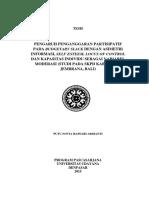 (2015) Putu Novia Hapsari Ardianti - Pengaruh PB pada Budgetary Slack dengan AI, Self Esteem (Tesis).pdf