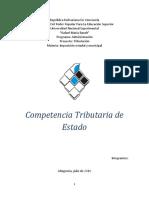 Competencia Tributaria de Estado