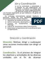 DIRECCIÓN Y COORDINACIÓN teoria adm