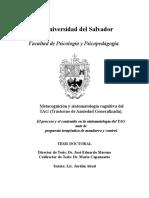 Metacognición y Sintomatología Cognitiva Del TAG