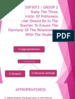 Tutorial Characteristics