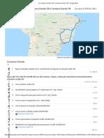De Campina Grande, PB a Campina Grande, PB - Google Maps