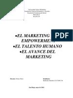 El Marketing y El Empowerment - El Talento Humano - El Avance Del Marketing