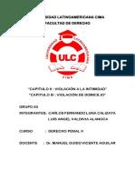 Violacion a La Intimidad - Domicilio - Ulcccc