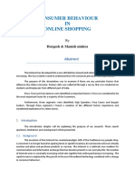Consumer Behaviour in Online Shopping