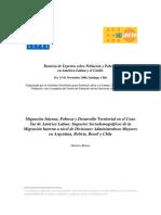 40-Migración Interna, Pobreza y Desarrollo Territorial en El Cono Sur de América Latina