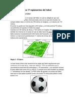 Los 17 Reglamentos Del Futbol Resummen