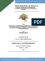 Analisis de La Informacion Financiera en La Coperativa