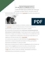 DEFINICIÓN DESENTIMIENTO
