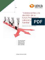 Adolescentes y La Decision de Su Futuro Profesional,Laboral y Familiar