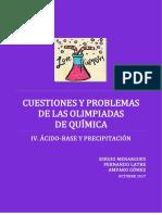 Cuestiones y Problemas Resueltos de  Acido Base y Precipitacion