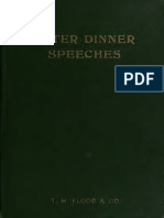 After Dinner Speeches, Flood