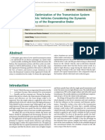 Design Optimization of the Transmission System for Electric Vehicles Considering the Dynamic Efficiency of the Regenerative Brake
