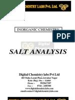 Salt Analysis