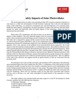 Health and Safety Impacts of Solar Photovoltaics 2017 White Paper