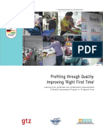 Profiting Through Quality Improving 'Right First Time'