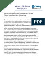 Bortoni_Sociolinguística educacional