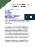 La Problemática Ambiental Del Sector Agropecuario en Colombia