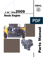 RS5 19 Telescopic Handler Deutz TD 4L2009 Engine Parts Manual 913282B