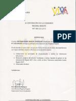 Certificado Corporación Viva La Ciudadanía.