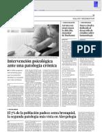 Articulo sobre Investigación psicologica enfermedad cronica