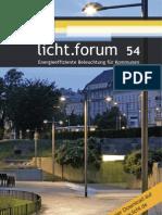 """licht.forum 54 """"Energieeffiziente Beleuchtung für Kommunen"""""""