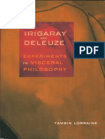 Irigaray and Deleuze. Experiments in Visceral Philosophy