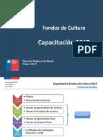 Capacitación 2017 Fondos de Cultura