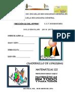 CUADERNILLO DE CONSIGNAS 14-15 MATE 3° corregido