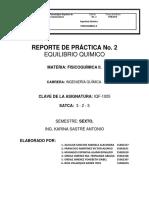 Practica 2 Fisicoquimica 2