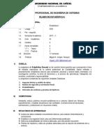 Silabo Estadistica i Sistemas-undc
