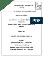 Produccion de Sulfato de Amonio Ltp 3812