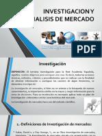 DEfinicion de Inv. y Analisis de Mercados