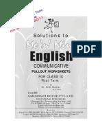 Me n Mine English Ix Answer Book